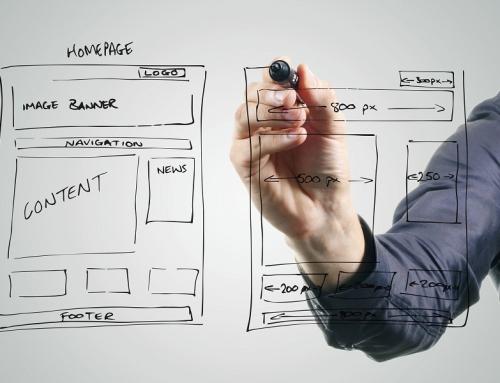 Wireframe de um website